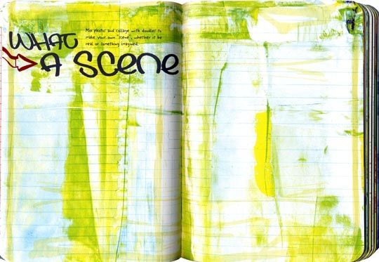 From my book, Doodle Sketchbook: Art Journaling for Boys. Ahem, it's NOT just for boys!