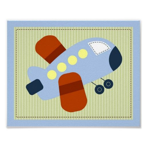 Let's Go Airplane Boys Nursery Wall Art Print  Click on photo to purchase. Check out all current coupon offers and save! http://www.zazzle.com/coupons?rf=238785193994622463&tc=pin