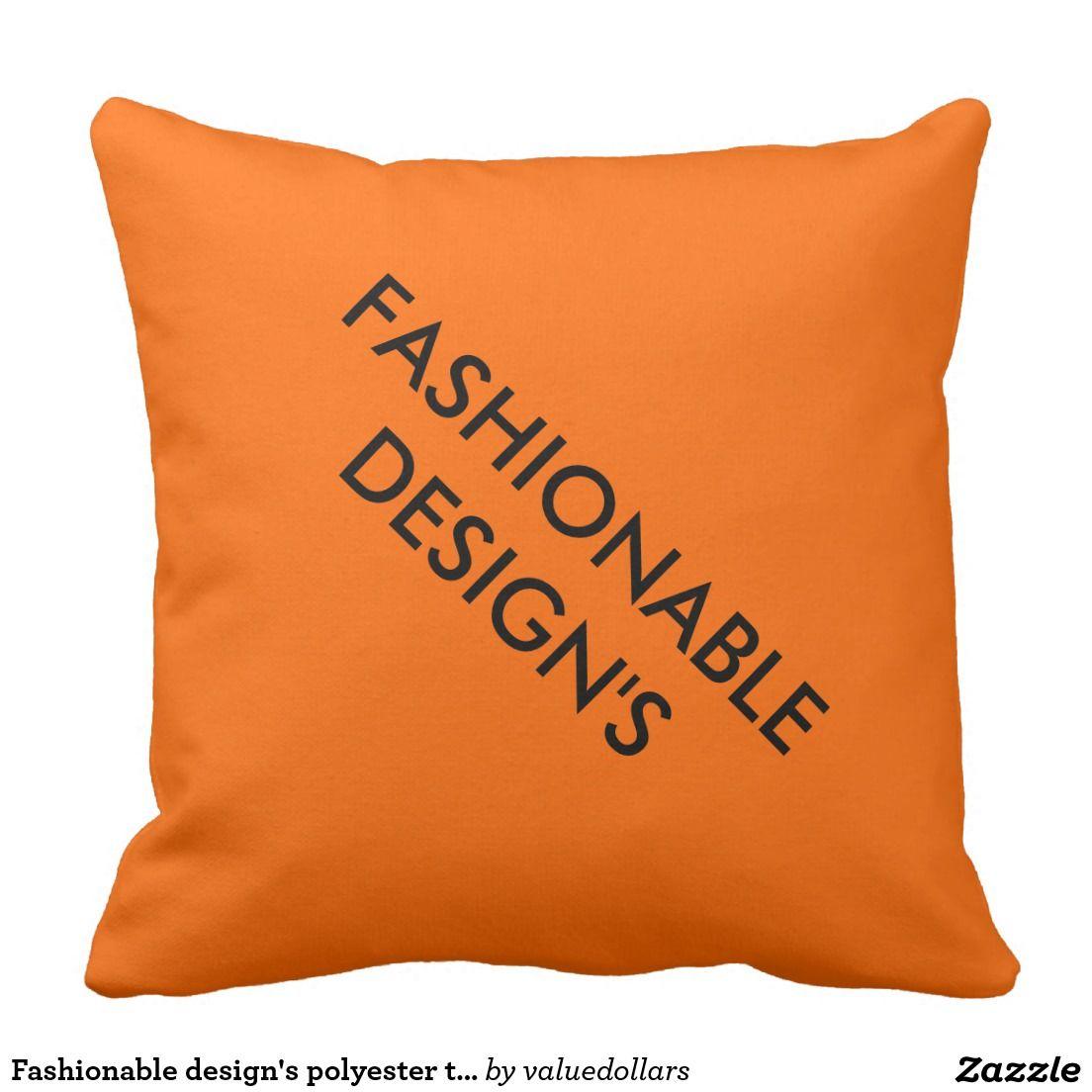 Fashionable designs polyester throw pillow