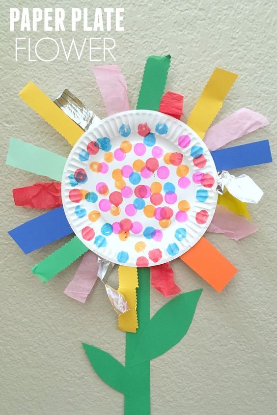 Paper Plate Flower Fine Motor Craft Preschool Activities Toddler