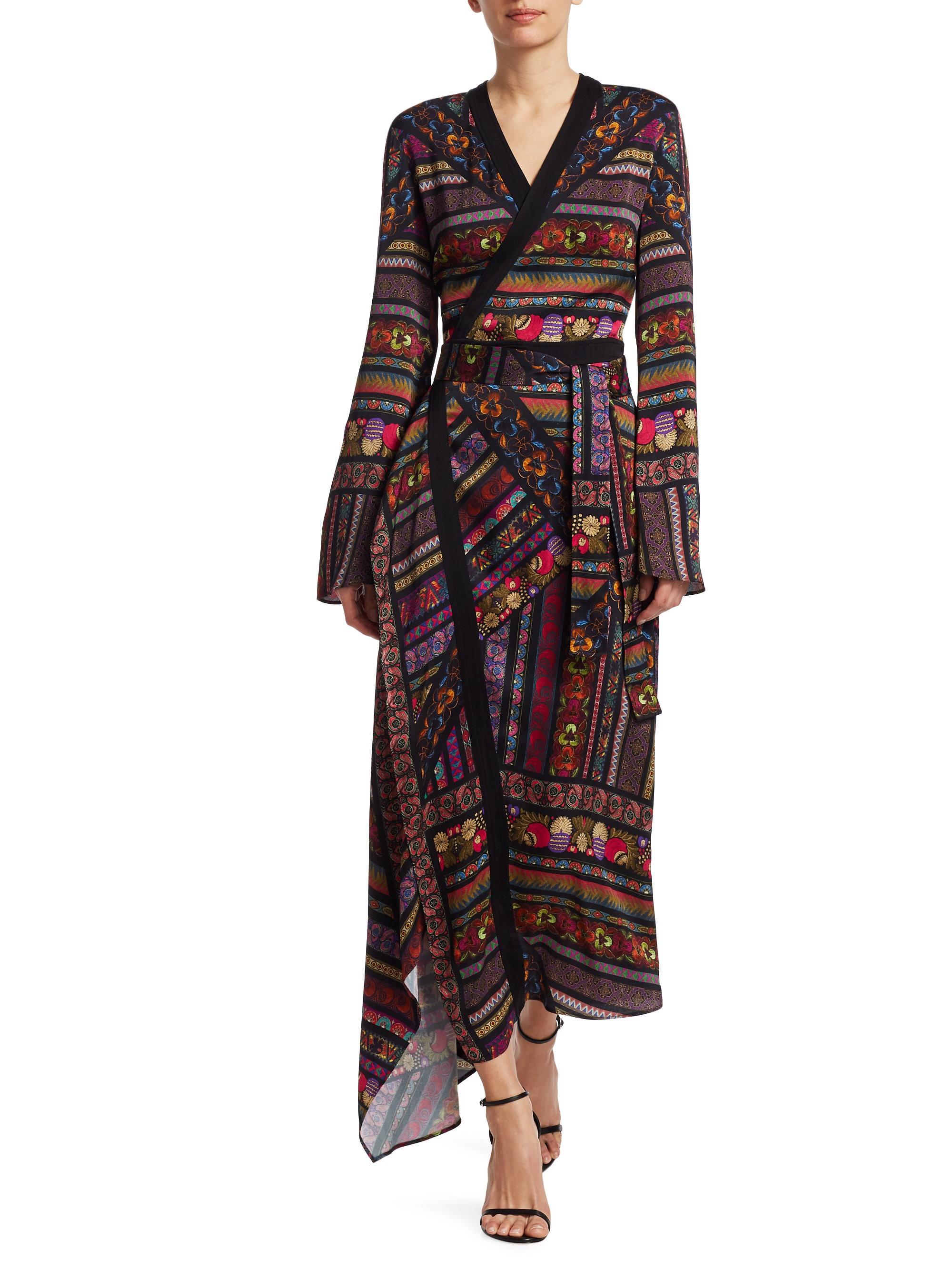 Etro Multi Ribbon Wrap Maxi Dress Black 46 10 Couture Fashion Black Maxi Dress Fashion [ 2667 x 2000 Pixel ]