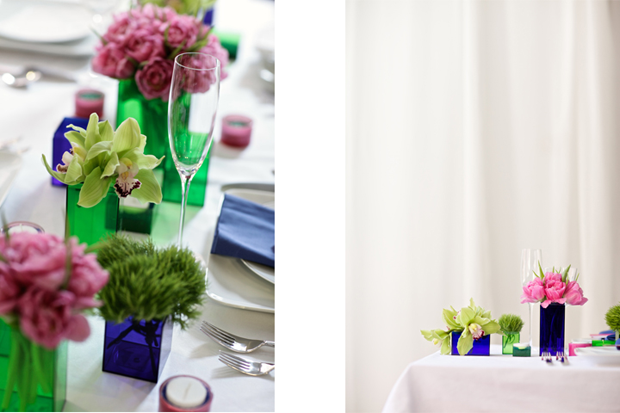 The Pink Pagoda: Color For a Party Table