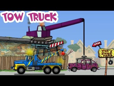 Tow Truck With Police Car Adventures Kids Cartoon Diggers Trucks