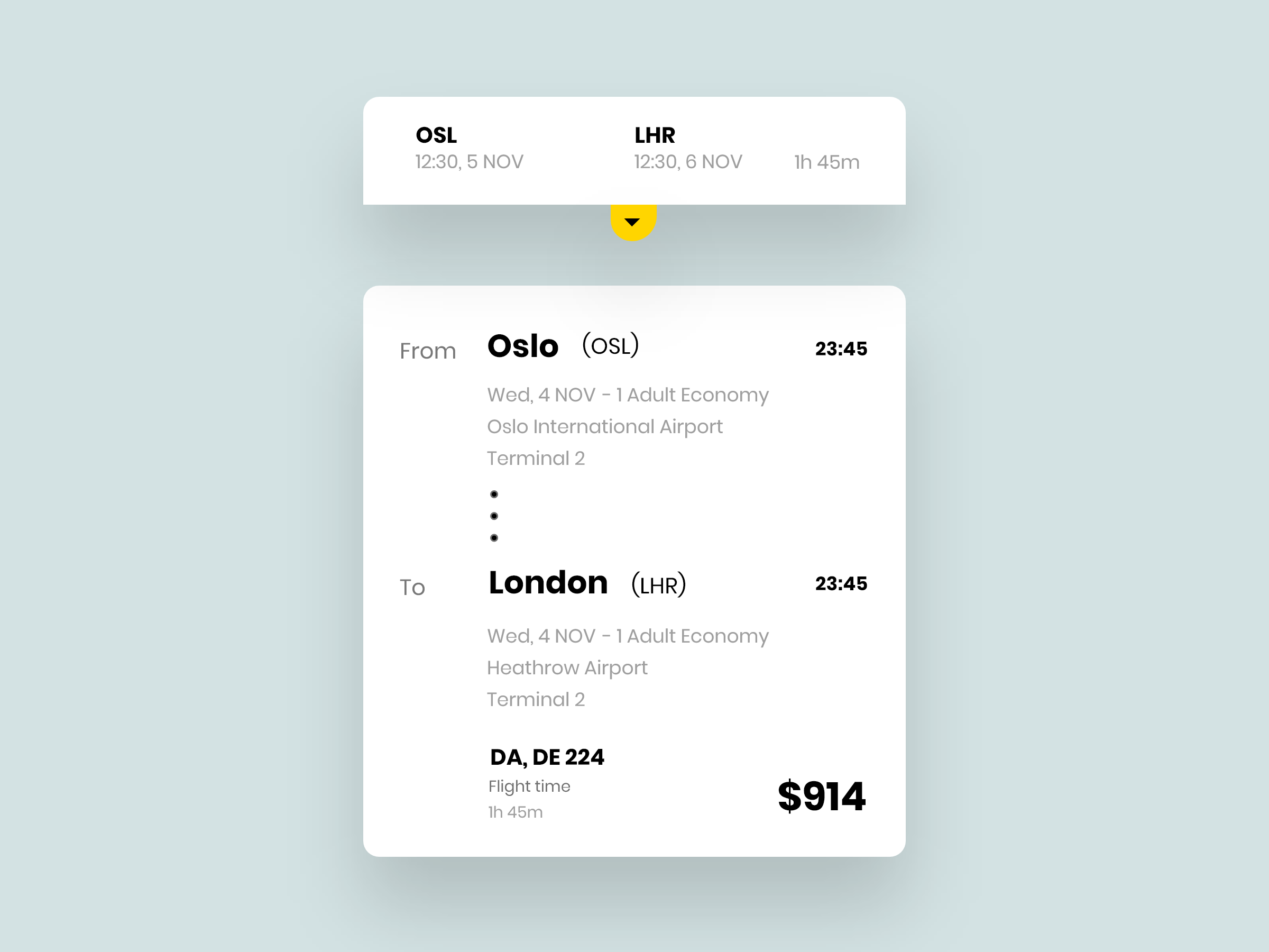 Ticket Booking Details Card For A Travel App With Images