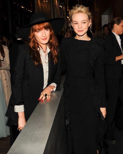 Florence Welch en Carey Mulligan in Prada