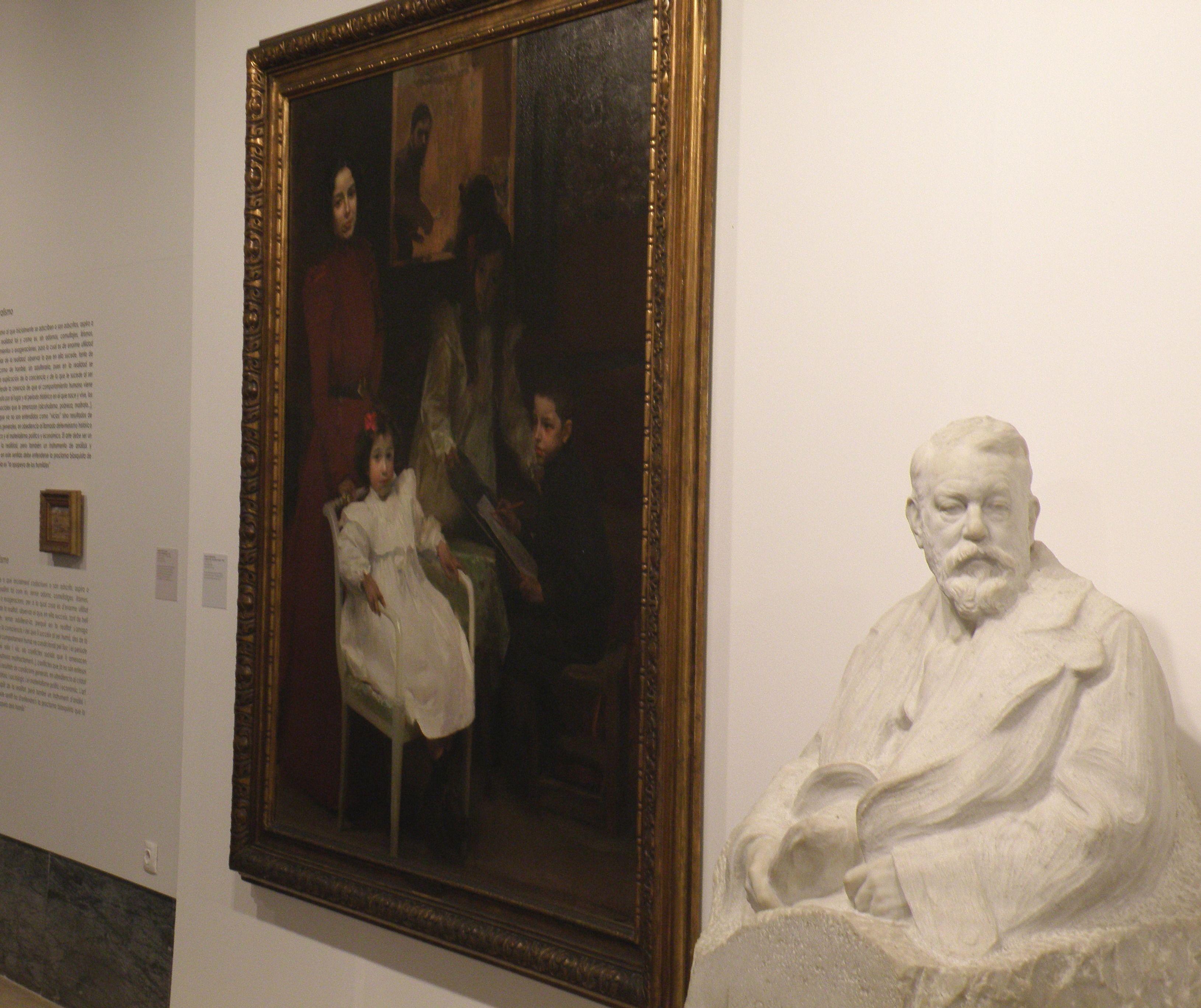 Busto de Joaquín Sorolla y su obra, 'Mi familia'. #Valencia