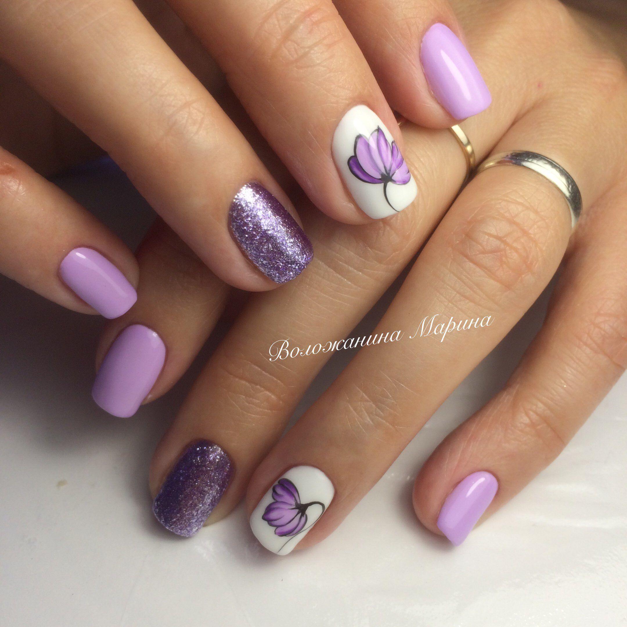Pin by Tatiana on Ногти цветы, листья   Pinterest   Beauty nails