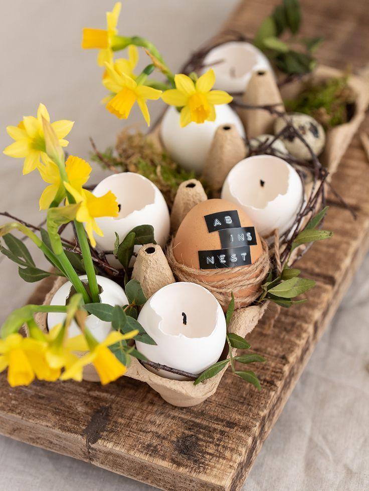 Kerzen aus Eierschalen basteln: ein DIY zu Ostern in 2020 ...