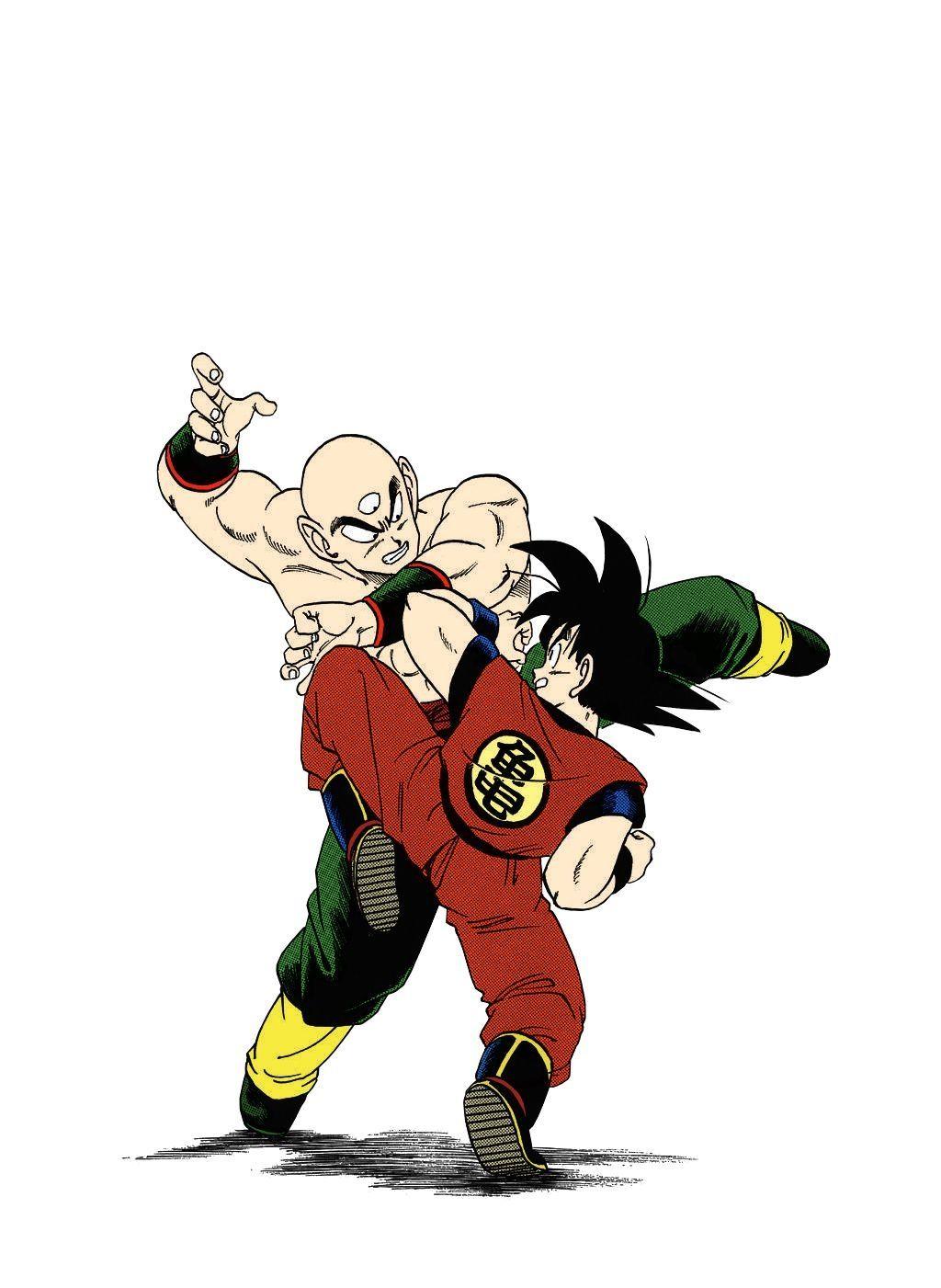 Goku vs. Tien Dragon ball goku, Dragon ball z, Dragon ball