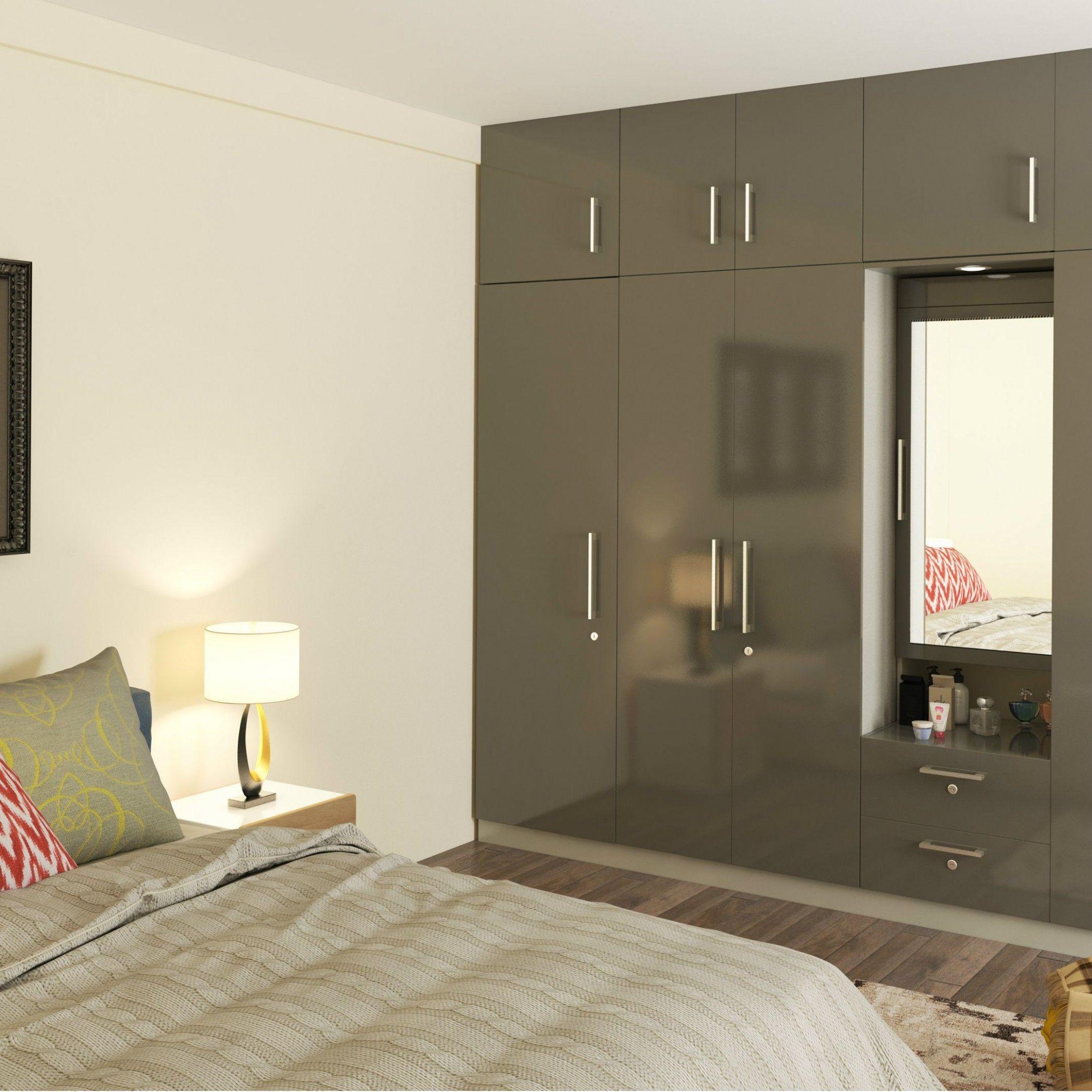 Bedroom Wall Wooden Almirah | Wardrobe design bedroom ...