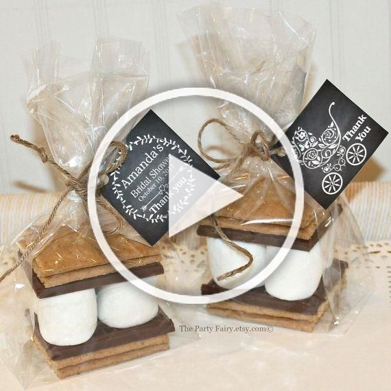 Photo of Smores Favor Kits, 12 Smores Baby Shower Favor Kits with Tags, Baby Shower Favor…