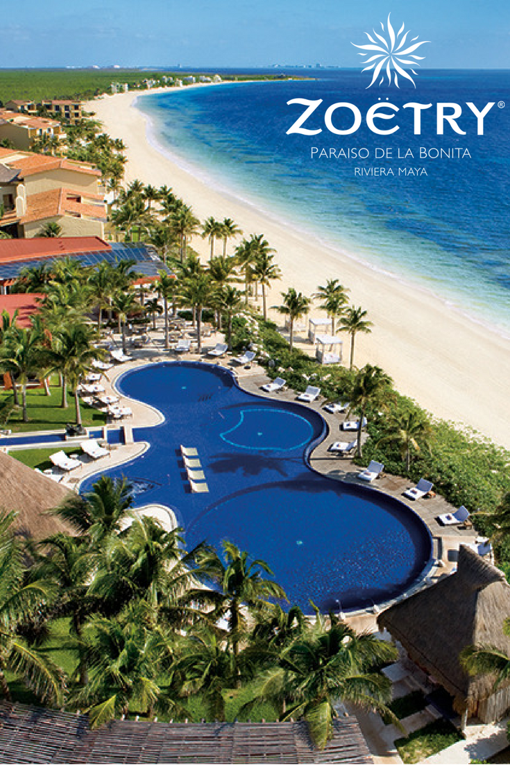 A fresh-water pool and sandy white beach are in your backyard when staying in a gorgeous suite at Zoëtry Paraiso.