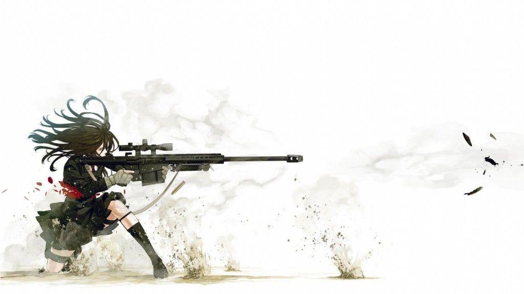 Anime Sniper Hd Best Wallpapers Wallpaper Anime Gadis Animasi Pemandangan