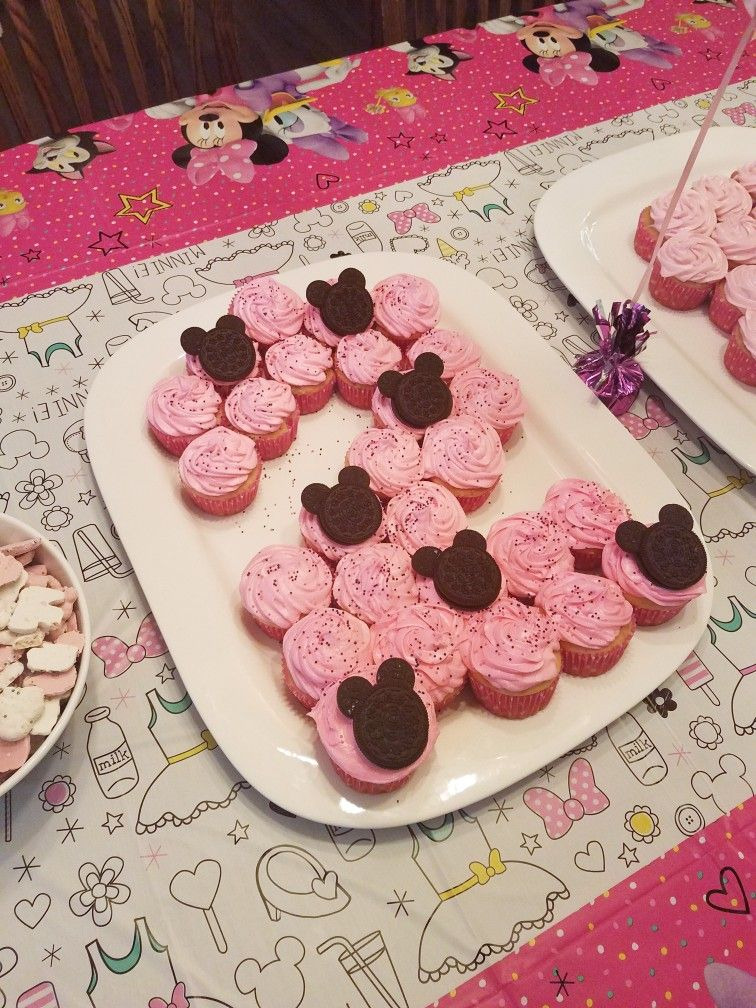 Minnie Mouse, 2 year birthday party cupcakes Cupcake