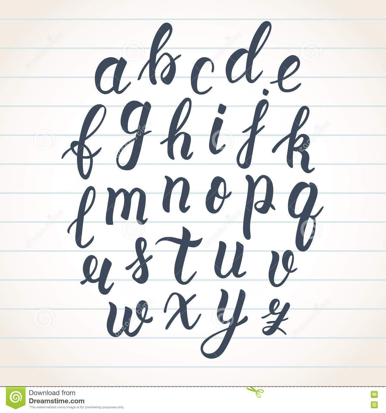 Image result for brush script alphabet | Lettering | Hand