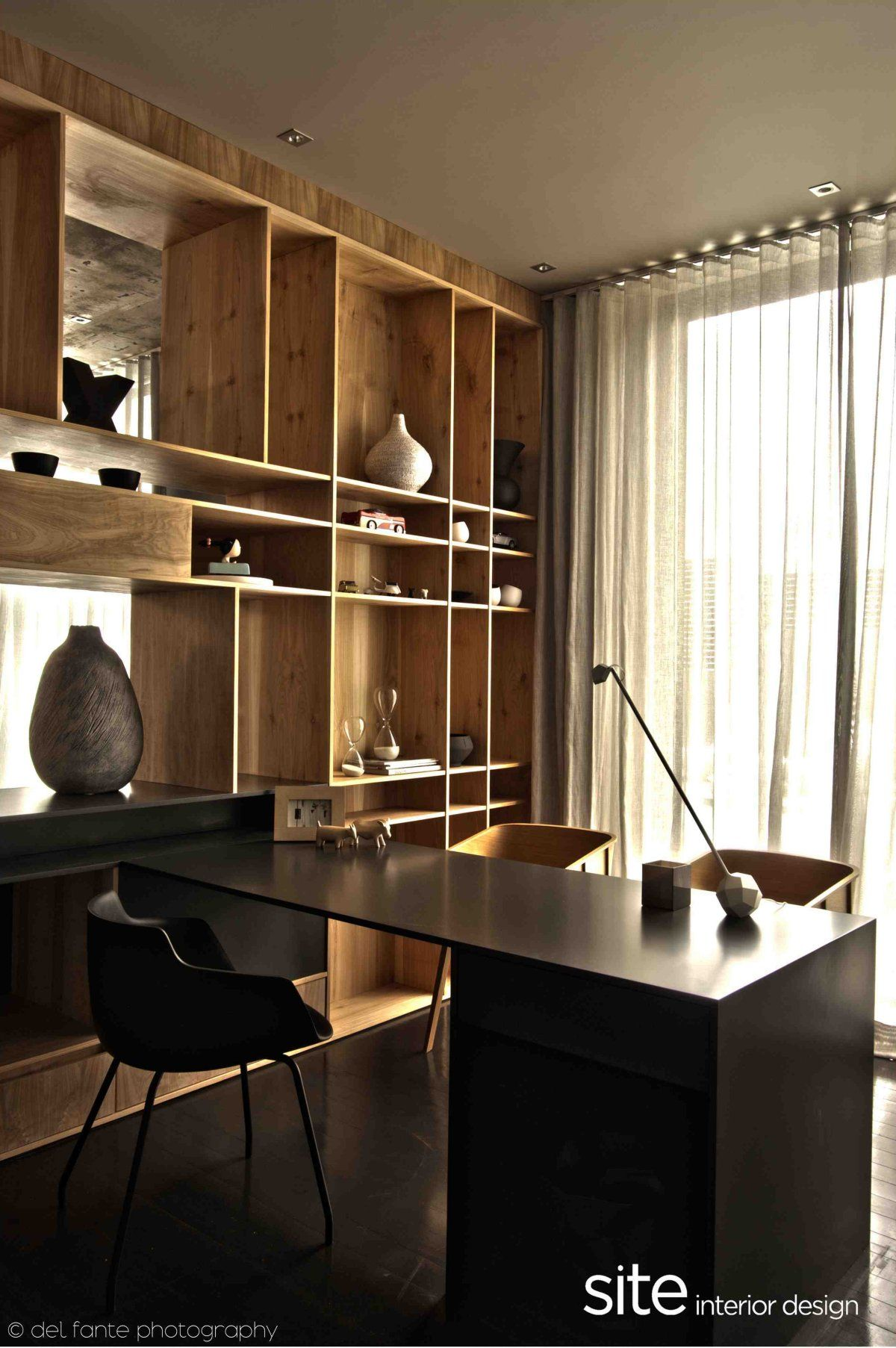 Aupiais House by Site Interior Design  Library Study  Home office