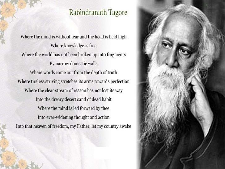 Where The Mind Is Without Fear By Rabindranath Tagore Quote