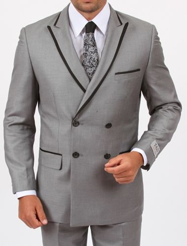 Grey with Black Trim | NYE2014 | Pinterest | Slim fit suits ...