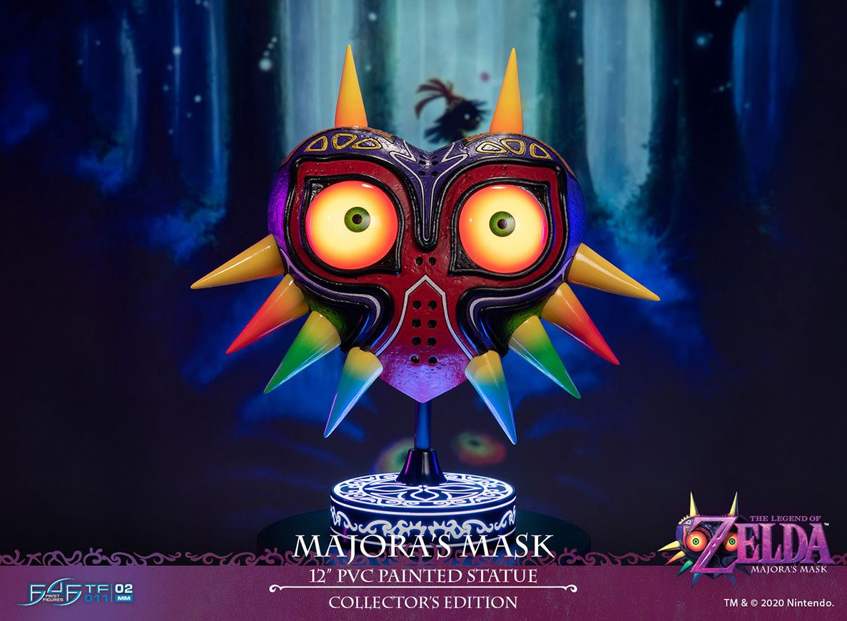 The Legend Of Zelda Collector S Edition Majora S Mask Pvc Statue In 2020 Majoras Mask Legend Of Zelda Anime Fairy