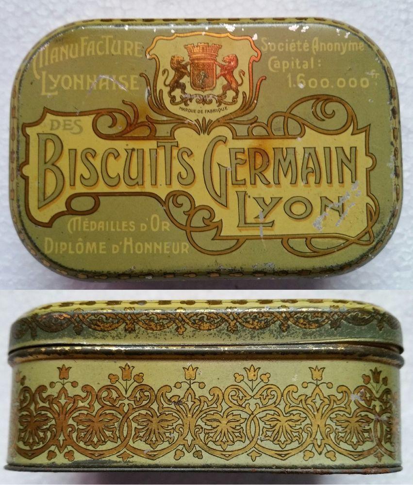 bo te m tal biscuits germain lyon ancienne antiques pinterest boite metal boite et m tal. Black Bedroom Furniture Sets. Home Design Ideas