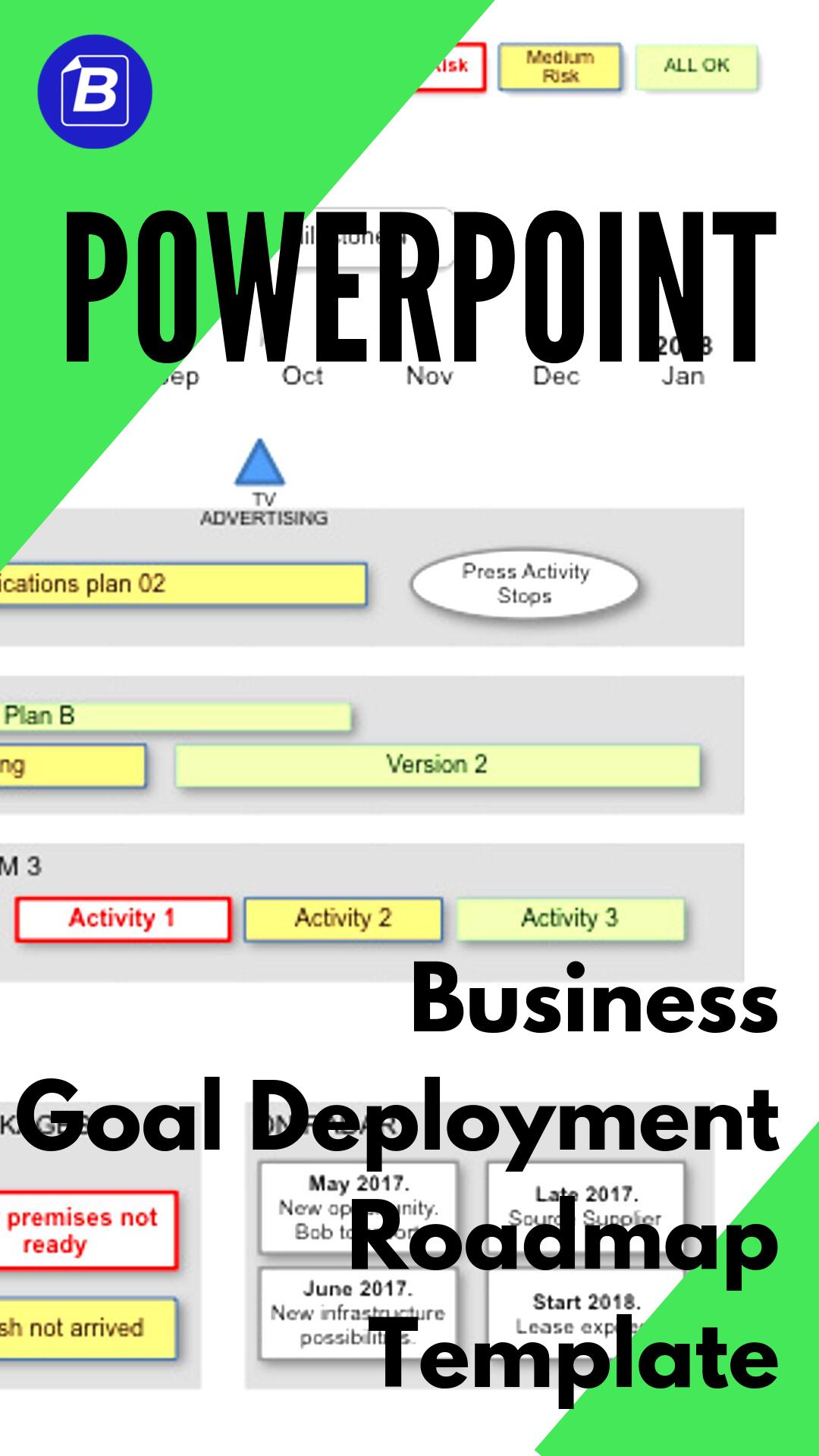 Powerpoint Business Goal Deployment Roadmap Template