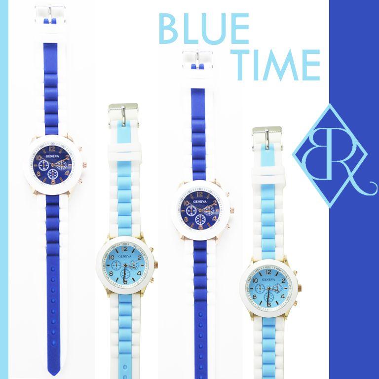 Relojes bicolor, disponibles en diversos colores www.missbrumma.cm