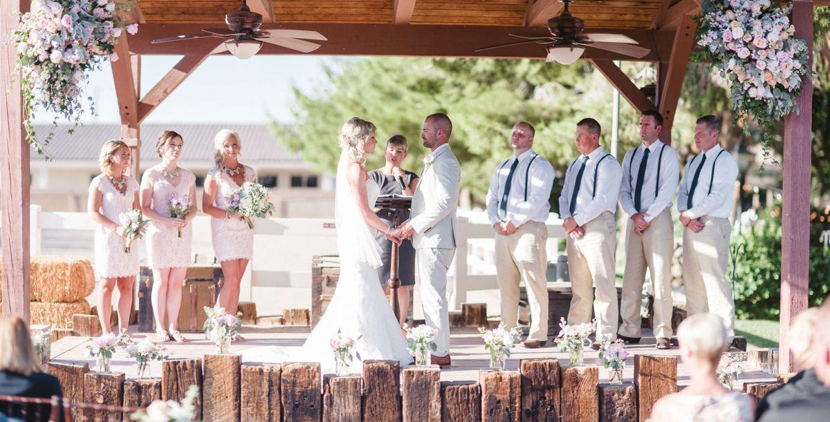 Rustic Wedding Legends Ranch Las Vegas