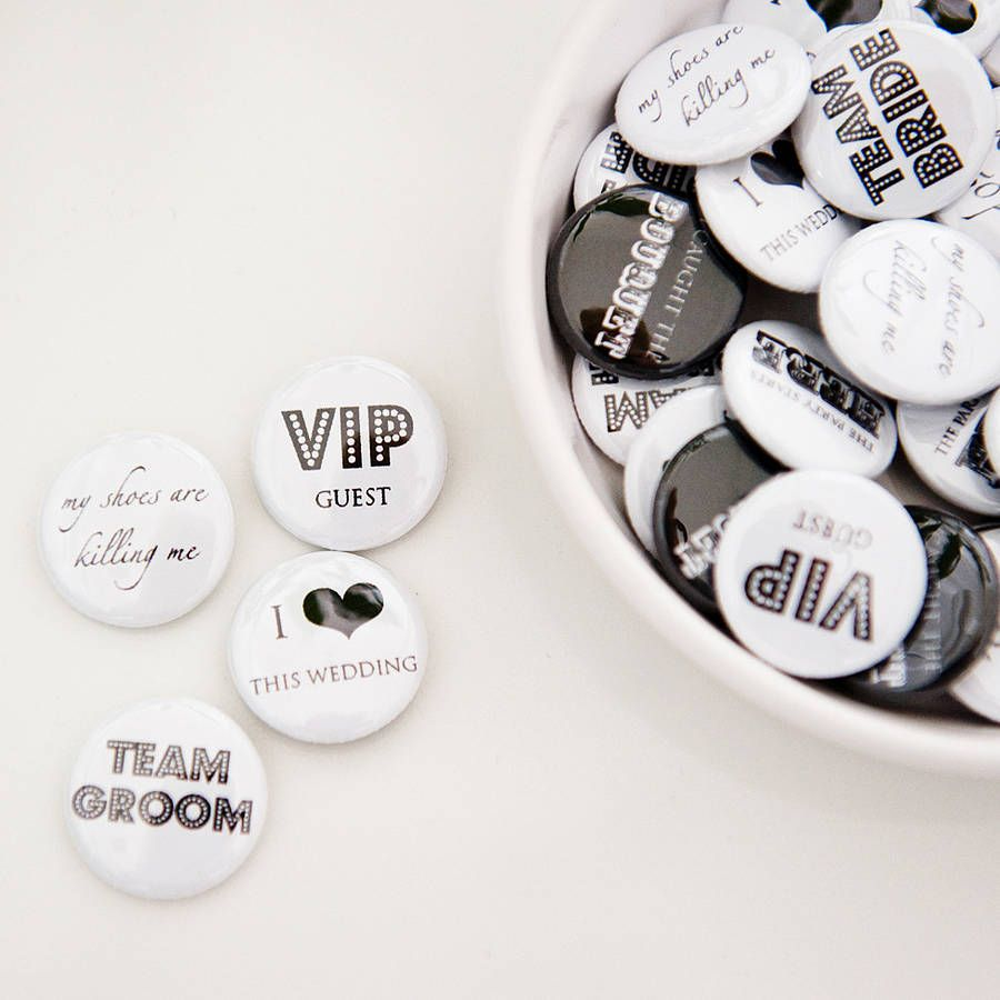 Pack Of 50 Wedding Favour Badges from notonthehighstreet.com | The ...