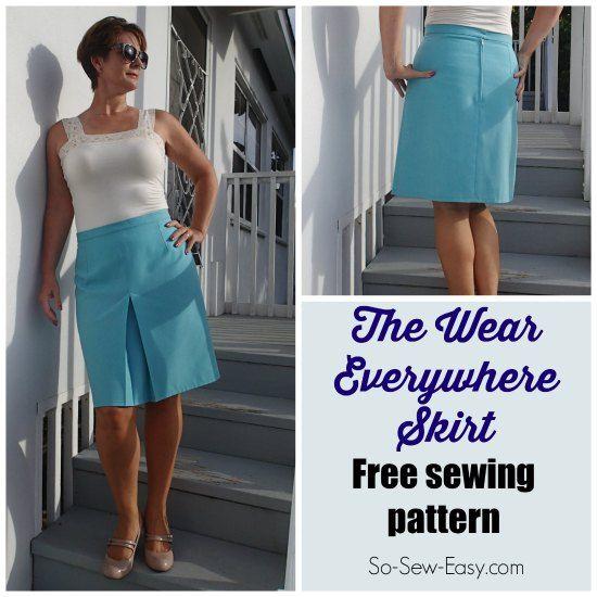 The Wear Everywhere Skirt - free pattern | Pinterest | Nähen, Rock ...
