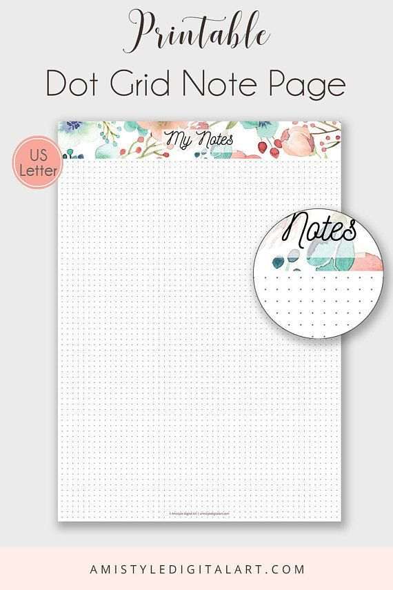 Modest image throughout free printable notes page