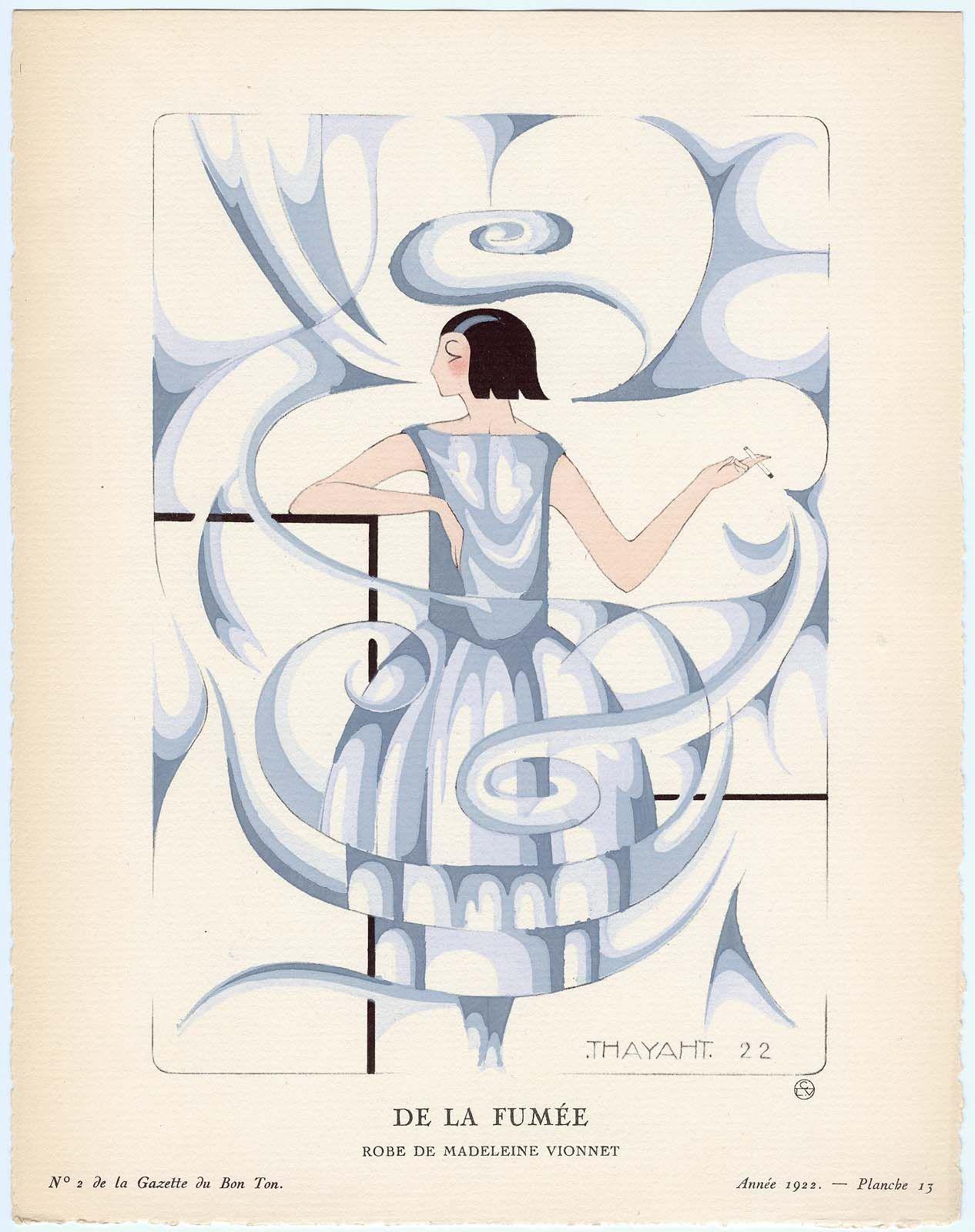 """""""De La Fumée - Robe de Madeleine Vionnet,""""  1922 by Thayaht (Ernesto Michahelles)"""