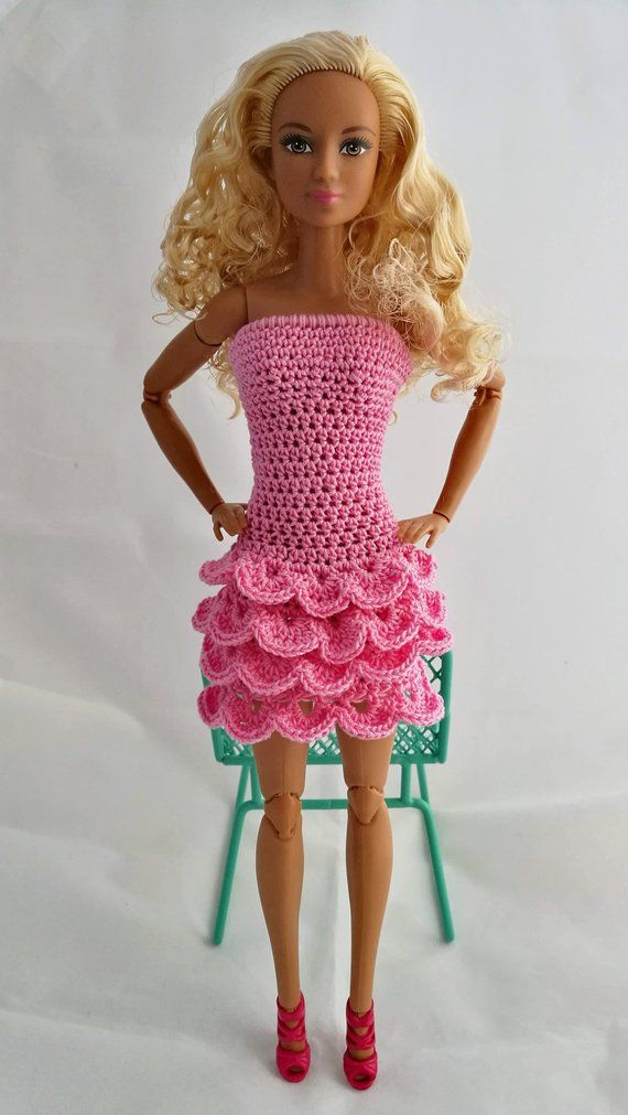 Photo of Barbie, Model Muse dress with ruffles, pink