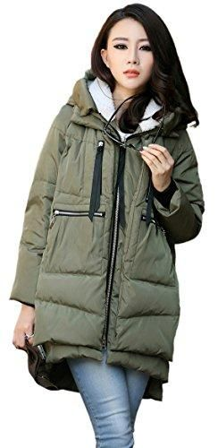 Orolay Women's thickened Down Jacket, Green Size L