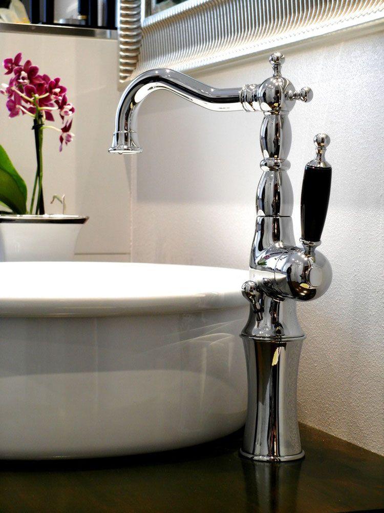 Hohe 1 Loch Waschtischarmatur BRIGHTON   Badezimmer ...