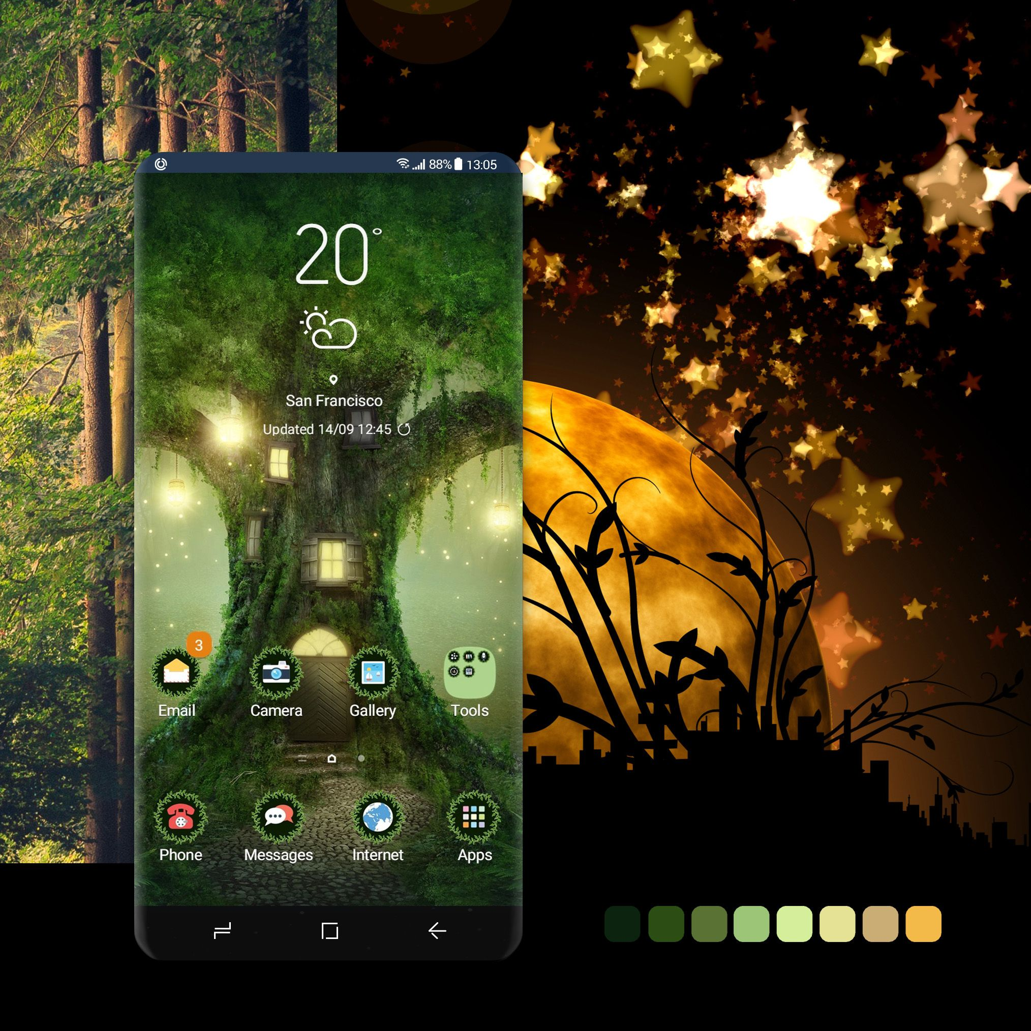 Tree House theme Add a pinch of fairy tale to your phone
