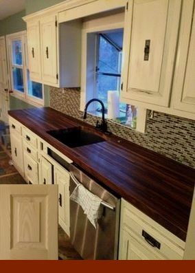 kaboodle kitchen before and after kitchenremodeling kitchenplanning walnut butcher block on kaboodle kitchen microwave id=11396