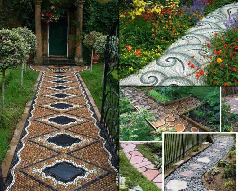 Desain Jalan Setapak Taman Minimalis Mosaic Garden Pathway Designs