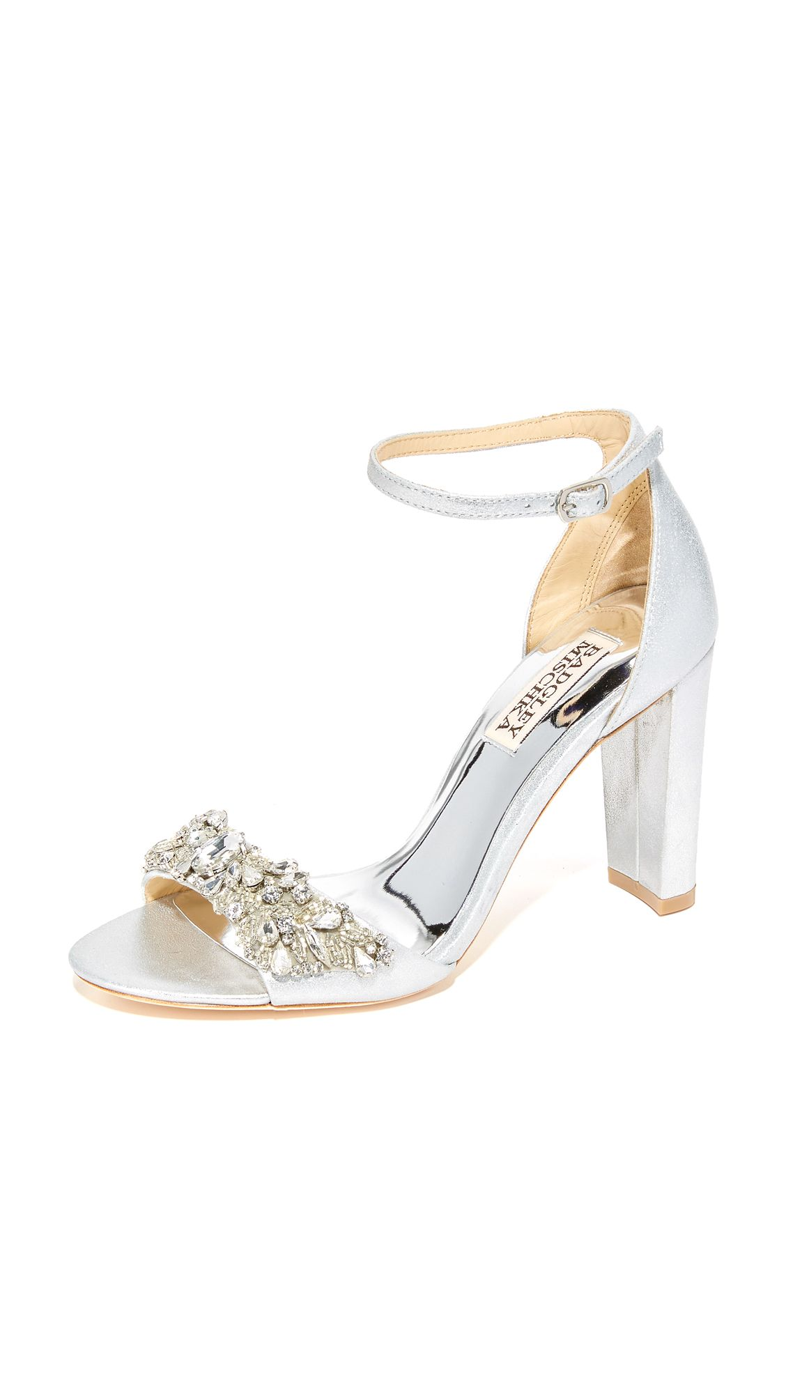 7d31e790ee3 Barby Sandals | Weddings | Badgley mischka shoes, Beaded shoes ...