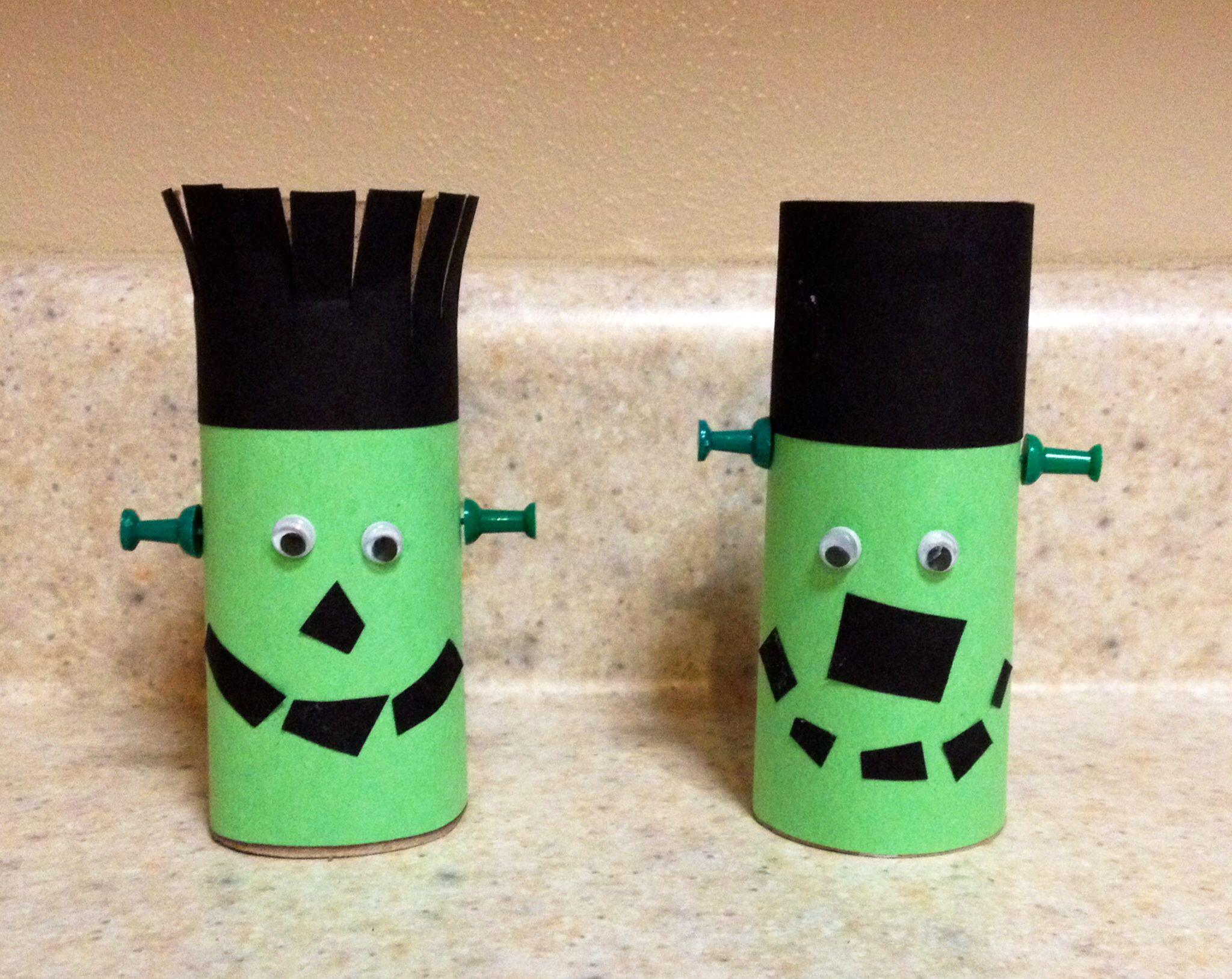 Diy halloween door decorations with toilet paper rolls