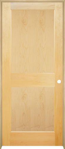 solid veneer mastercraft maple flat panel prehung interior door at menards also rh in pinterest