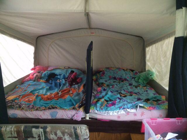 Kids Bed Divider Pop Up Tent Trailer Remodeled Campers Camper Hacks