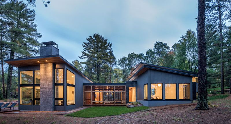 Northern Minnesota Lake House By Strand Design Modern Lake House Scandinavian Architecture Lake House