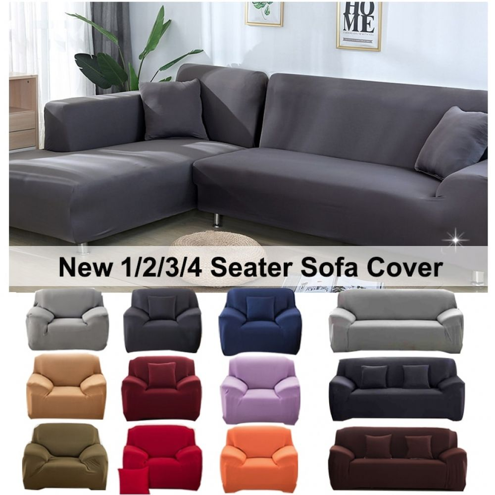 Elastic Stretch Sofa Cover 1 2 3 4 Seater Sof Slipcover Couch Covers For Universal Sofas Livingroom Sectional L Shap In 2020 Couch Covers Slip Covers Couch Sofa Covers