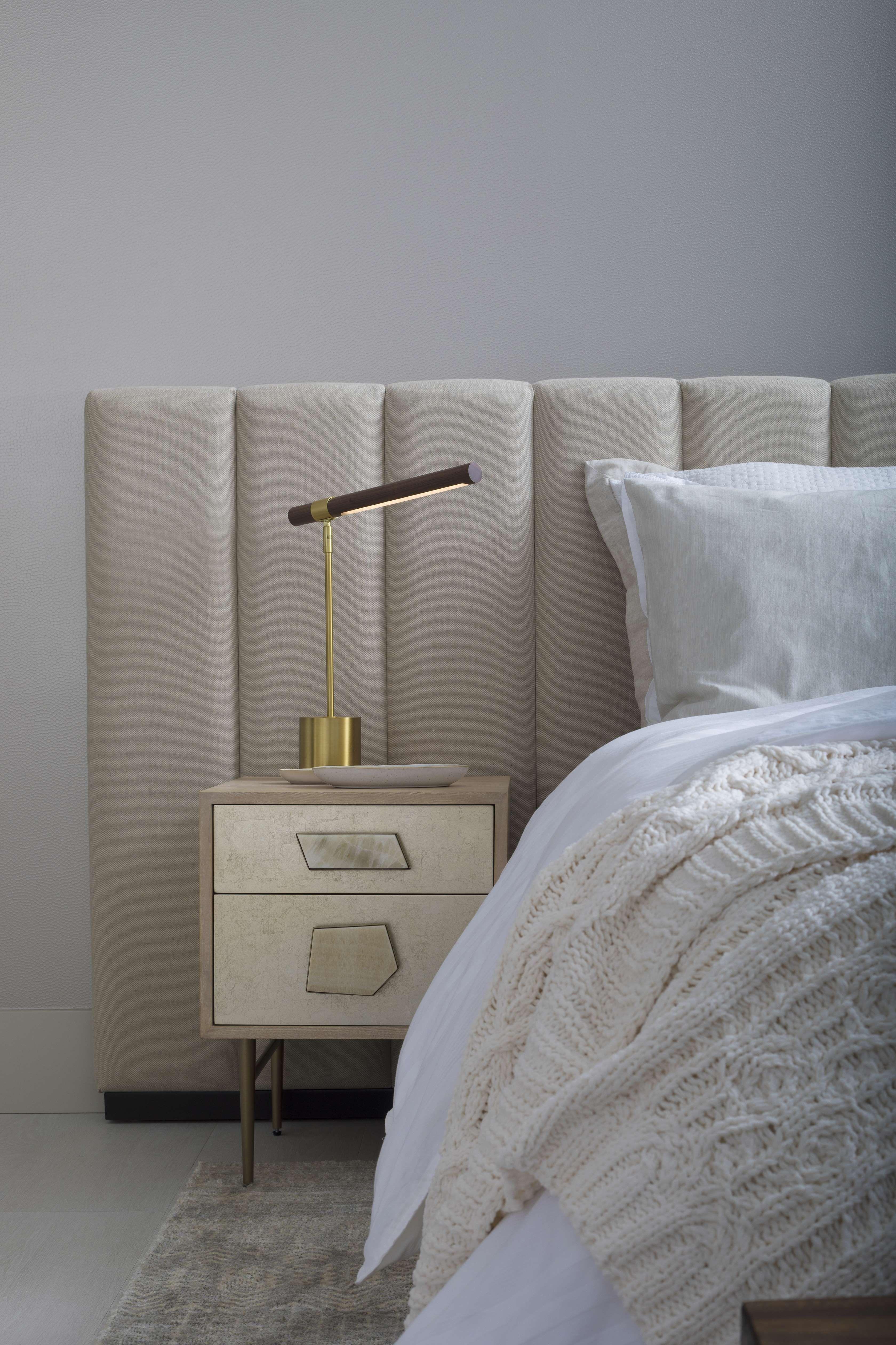 francis upholstered panel headboard on condo design by dkor interiors modern coastal design bed headboard design bedroom headboard bedroom interior pinterest