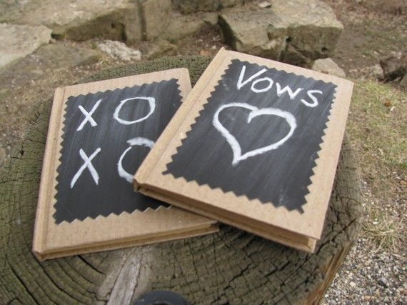 SET OF 2 Mini Wedding Vow Memory Love Notes by astylishdesign, $12.00