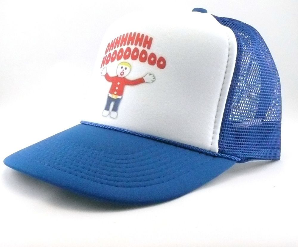 600062427f2 Mr. Bill Trucker Hat mesh hat snapback hat royal blue new Vintage SNL hat   TruckerHat  TruckerHat