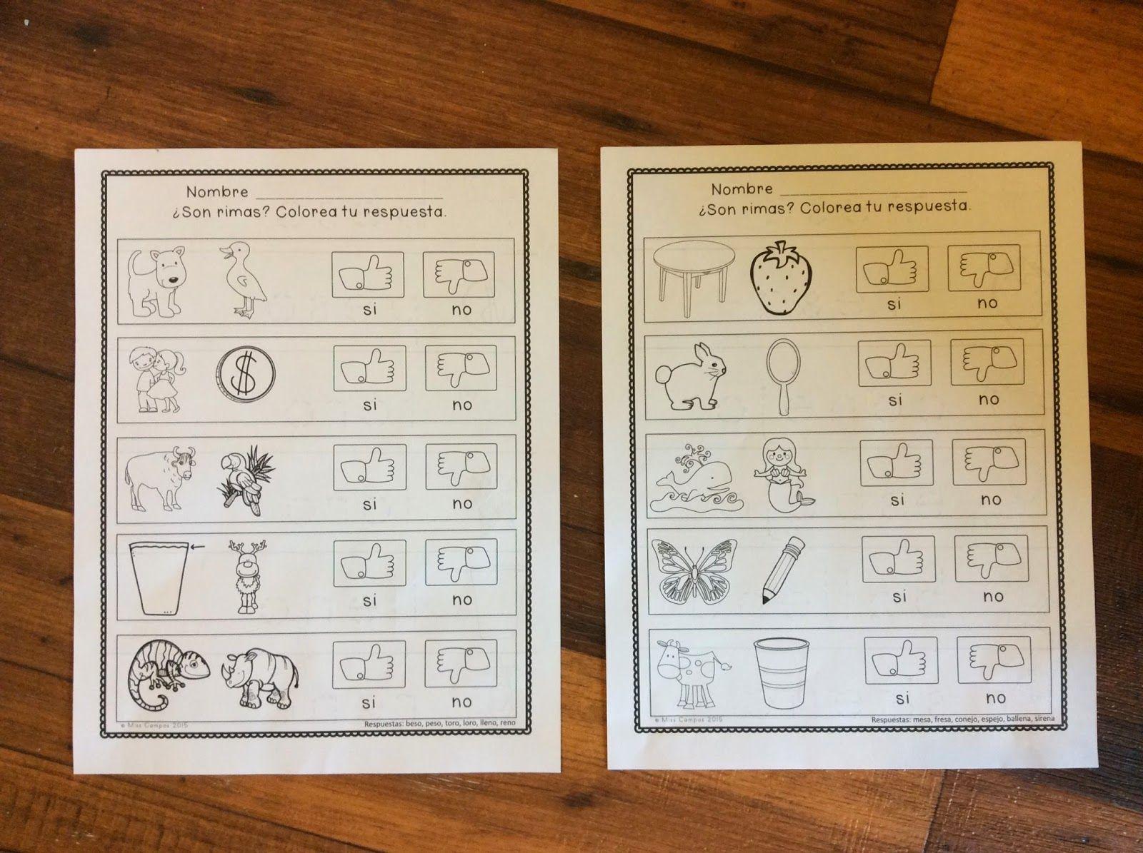 Kindergarten Corps Blog Rhyming Worksheets For Kindergarten And Preschool