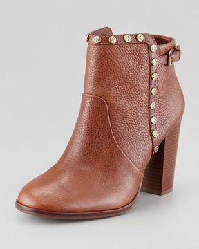 cf22e62b2 Tory Burch Mae Logo-Studded Ankle Boot