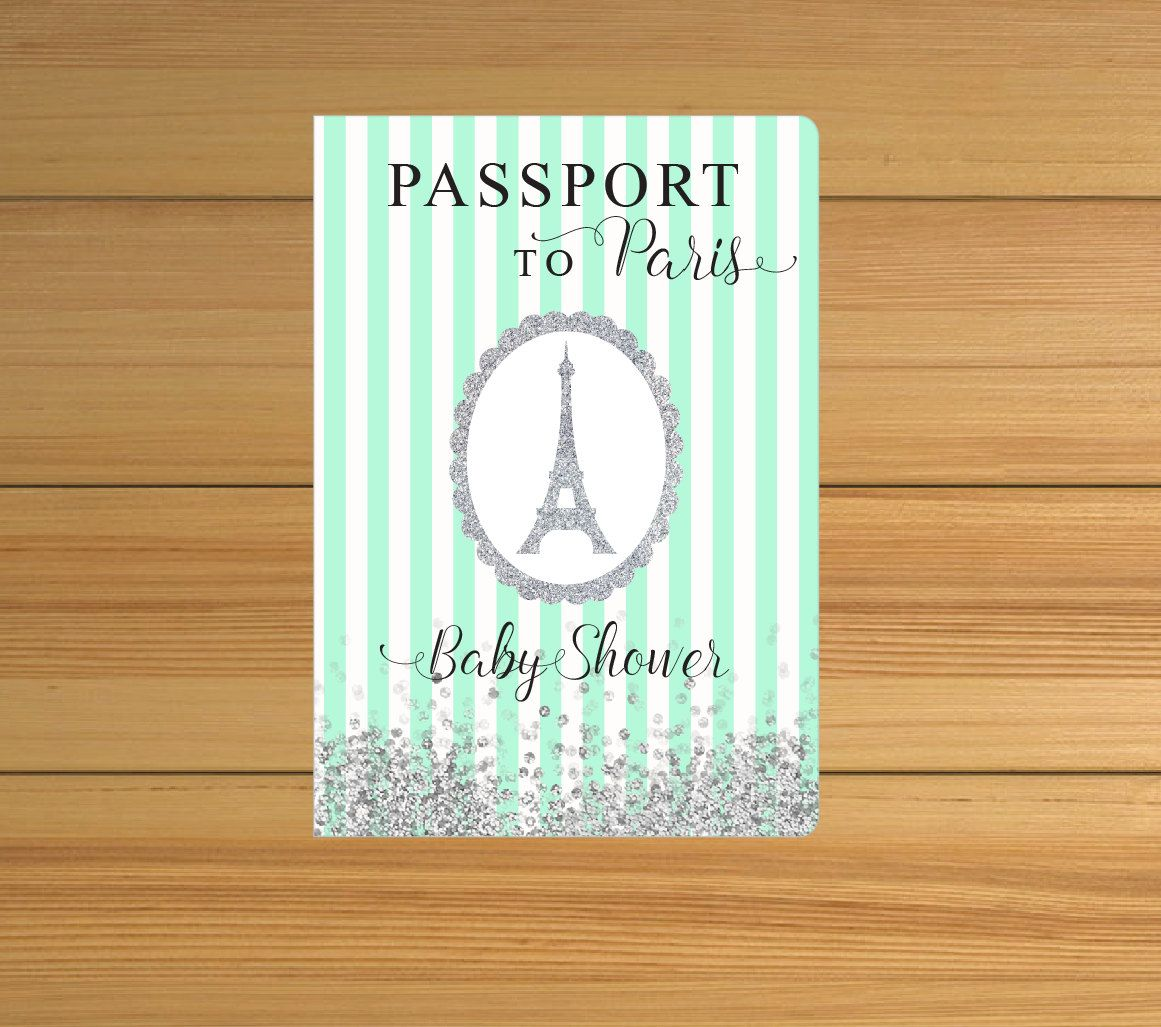 New to anaderoux on Etsy: Baby boy invitation - Paris baby shower ...