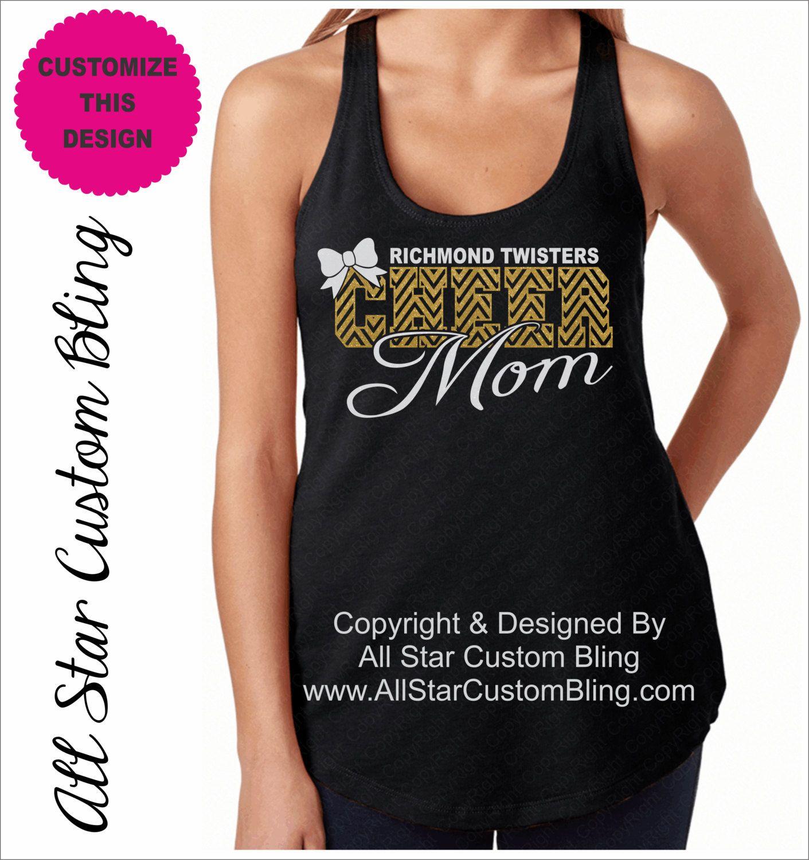 Custom Cheer Mom Tank Top, Cheer Mom Racerback Tank Top, Cheer Mom ...